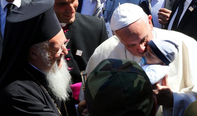 El Papa y Bartolomé, en Lesbos