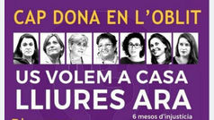 Un espectáculo infantil para pedir la libertad de las políticas presas ante la cárcel de Figueres