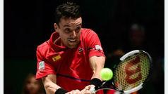 Roberto Bautista abandona la Copa Davis debido al agravamiento de la salud de su padre