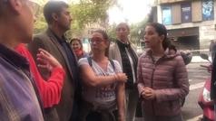Inés Arrimadas acude al centro de Barcelona para valorar los daños con los vecinos