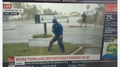 La dramática narración del huracán Florence que cuestionan las redes