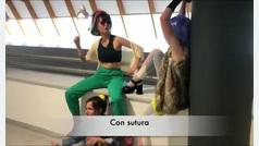 Médicos residentes de urología del Hospital de Oviedo imitan a Rosalía