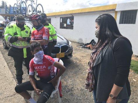 Atropellan a Nairo Quintana en Colombia
