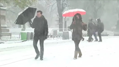 Se adelanta la primera gran nevada del invierno en Nueva York