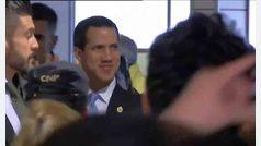 Llegada de Juan Guaidó al aeropuerto de Barajas