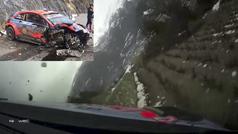 El escalofriante accidente de Tanak a 170 km/h el el Rally de Montecarlo