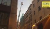 Incendio en dos buhardillas junto al centro cultural Conde Duque