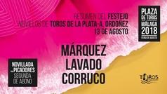 Toros en Málaga, 13 de agosto de 2018