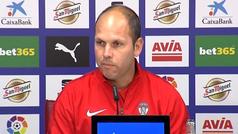 José Alberto López, entrenador del Sporting, reconoció que parte de la eliminatoria es 'mérito del cuerpo técnico anterior'