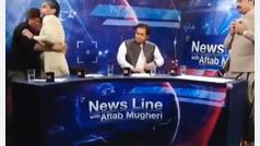 Debate televisivo acaba a puñetazos en Pakistán