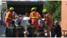 Teo, el valenciano de 350 kilos, deja el hospital en un camión de mudanzas