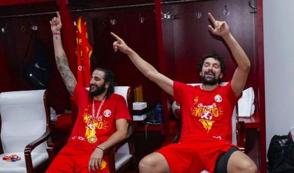Así fue la fiesta de los campeones del mundo de baloncesto en China