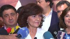 Carmen Calvo resopnde a las declaraciones de Casado