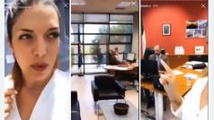 El paseo de la mujer del director general de Educación andaluz por su despacho