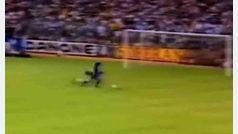 Gol de Maradona con el Barcelona al Real Madrid, Liga 1983