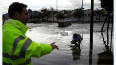 Hallan muerto al bombero desaparecido tras las fuertes lluvias en Málaga