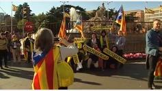 El independentismo tiñe Madrid de amarillo para pedir la libertad de los políticos presos