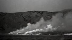 Así llegó la lava al mar en la erupción del volcán San Juan en La Palma en 1949