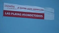Campaña de Ciudadanos para expulsar los lazos amarillos de las playas catalanas
