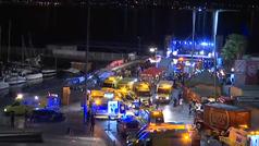 Más de 300 heridos tras desplomarse un muelle durante un concierto en Vigo