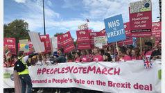 Clamor popular contra el Brexit en las calles de Londres