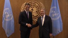 Sánchez se reúne con el secretario general de la ONU