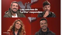 Los coaches de 'La Voz' responden