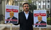 Protesta por el asesinato del periodista Jamal Khashoggi en Londres.