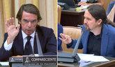 Duelo y ajuste de cuentas entre Aznar e Iglesias: