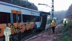 Un muerto y seis heridos tras descarrilar un tren de cercanías entre Terrassa y Manresa