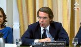 Duro enfrentamiento entre Rufián y Aznar en la Comisión que...