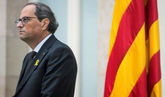 El presidente de la Generalitat de Cataluña, Quim Torra, durante una...