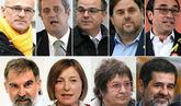 Raül Romeva, Joaquim Forn, Jordi Turull, Oriol Junqueras, Josep Rull,...