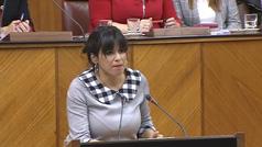 Teresa Rodríguez: 'Van a ser un Gobierno de corbatas muy grandes sobre corazones muy pequeños'