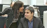 Rita Maestre y Jorge García Castaño, en un pleno extraordinario del...