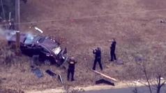 Persecución policial en Oklahoma que termina en un impactante accidente