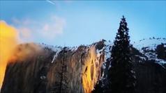 La 'cascada de fuego' del parque de Yosemite vuelve a impresionar
