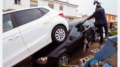 Gloria provoca el desbordamiento de un río e inundaciones en Málaga