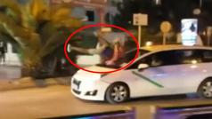 Un turista británico drogado se lanza contra un coche en marcha en Ibiza