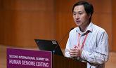 El científico chino He Jiankui durante la conferencia sobre Edición...