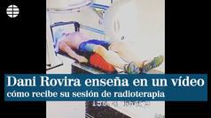 Dani Rovira enseña en Instagram cómo recibe su sesión de radioterapia