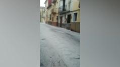 Riada de granizo en el municipio castellonense de Vilafranca