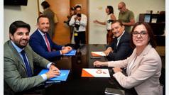"""El PP agradece la """"generosidad"""" de Cs y la """"altura de miras"""" de Vox en Murcia"""