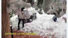 La policía municipal de Madrid pide precaución con el deshielo