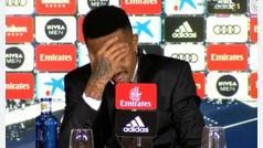 El mareo de Militao en su presentación con el Real Madrid