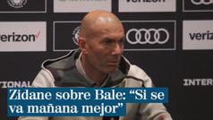 """Zidane sobre Bale: """"Si se va mañana mejor"""""""