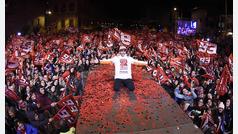 Fiesta sin esteladas de Marc Márquez en Cervera