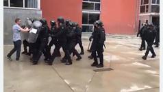El alcalde atropellado por la Guardia Civil
