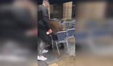 Brutal agresión de tres hinchas del Betis a un joven en Bilbao