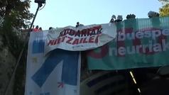 Tensión en San Sebastián entre Covite y manifestantes a favor de presos etarras